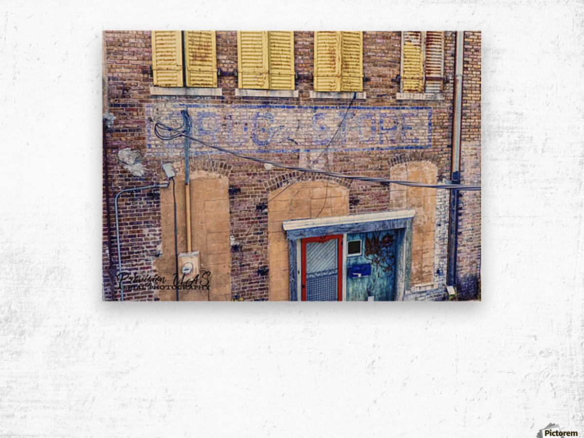 Lonoke, AR | Lyon's Drug Store Wood print