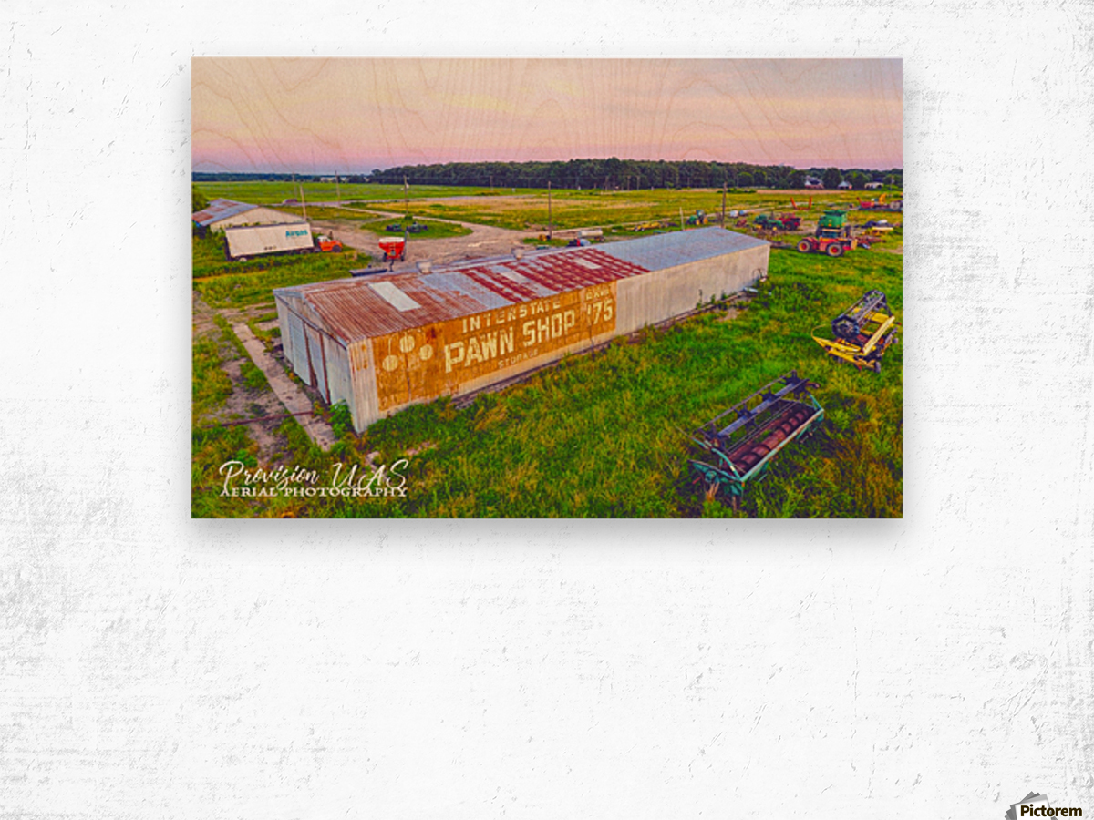 Lonoke, AR | Exit 89 on Interstate 40 Wood print