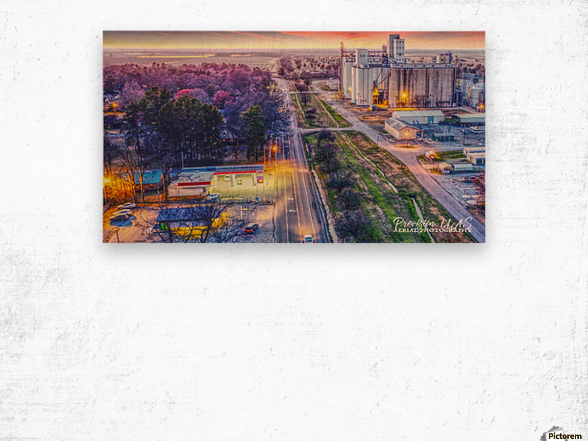 Lonoke AR | West down Hwy 70 Wood print