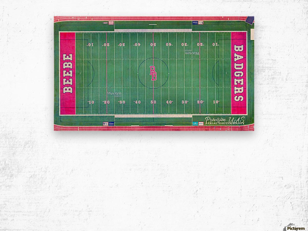 Beebe, AR | Badger Football Field Wood print