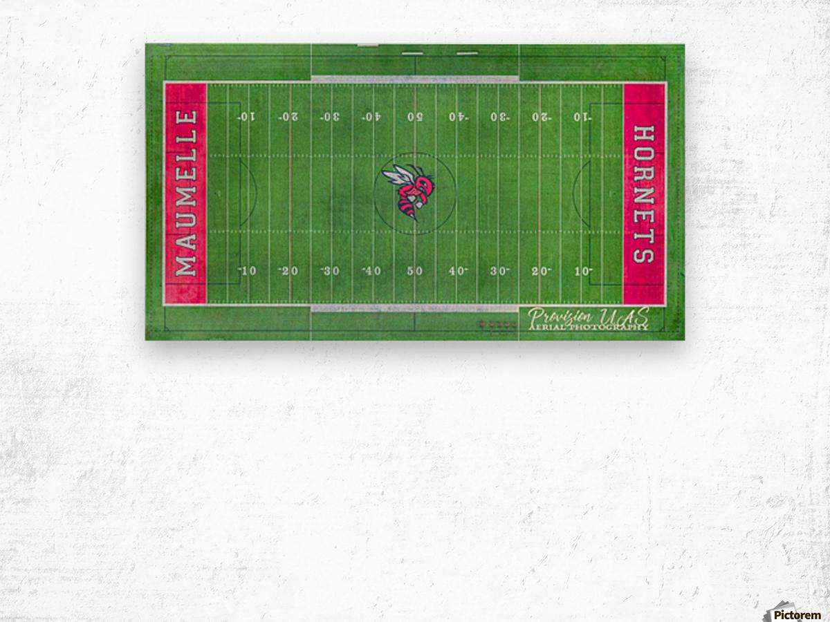 Maumelle, AR   Hornets Football Field Wood print