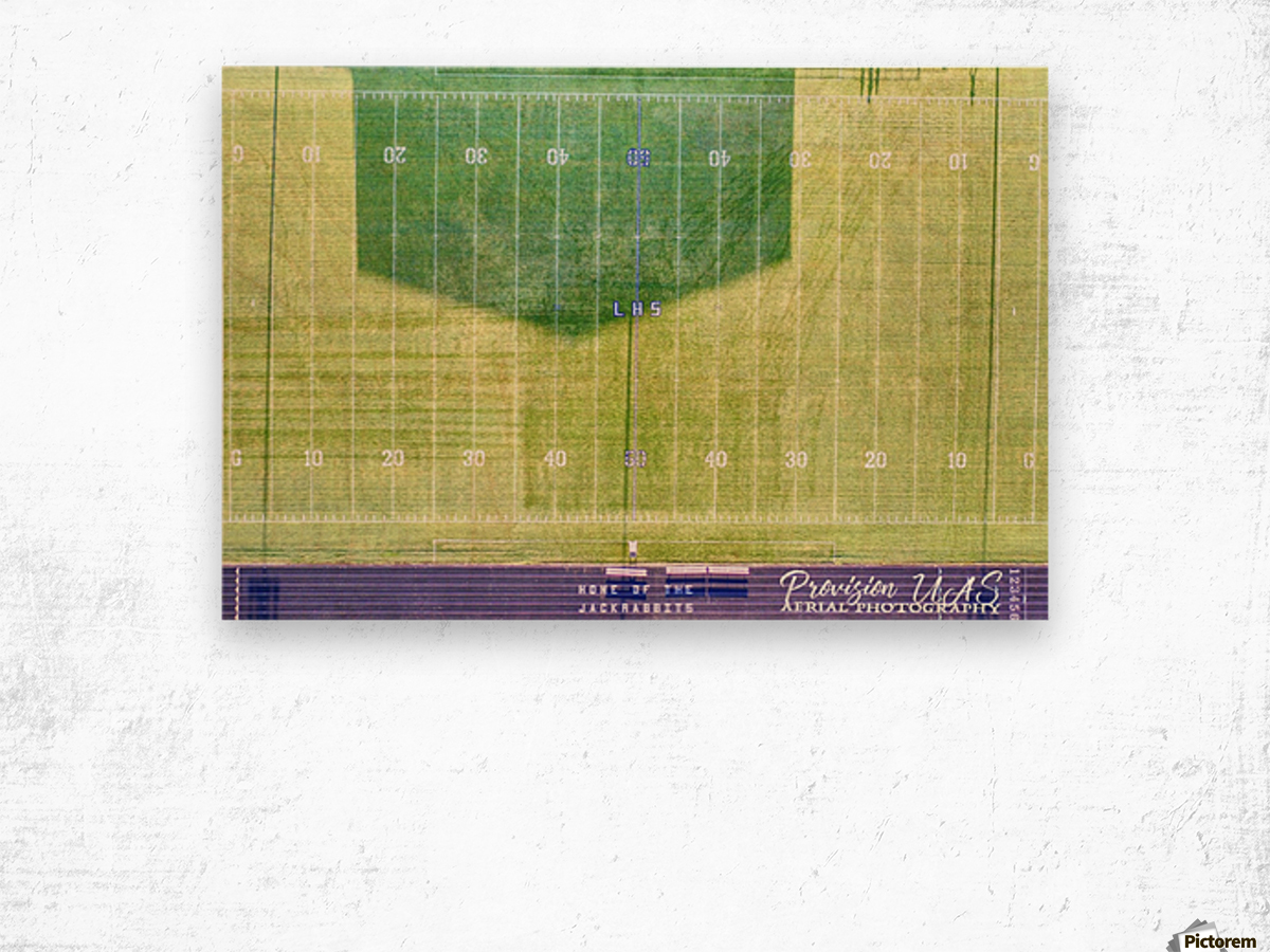 Lonoke, AR   Jackrabbits Football Field Wood print