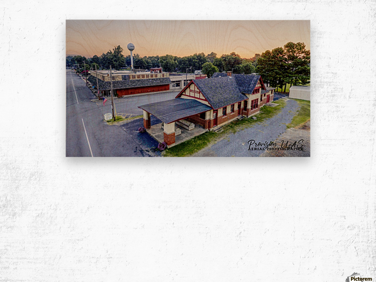 Carlisle, AR | Train Depot Wood print