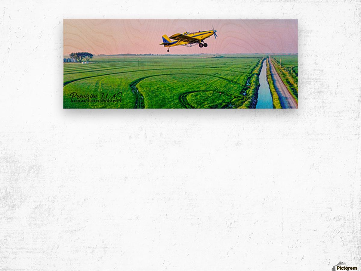 Carlisle, AR | Crop Dusting the Delta Wood print