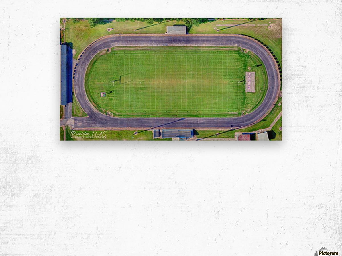 Hazen, AR   Hornets Football Arena Wood print