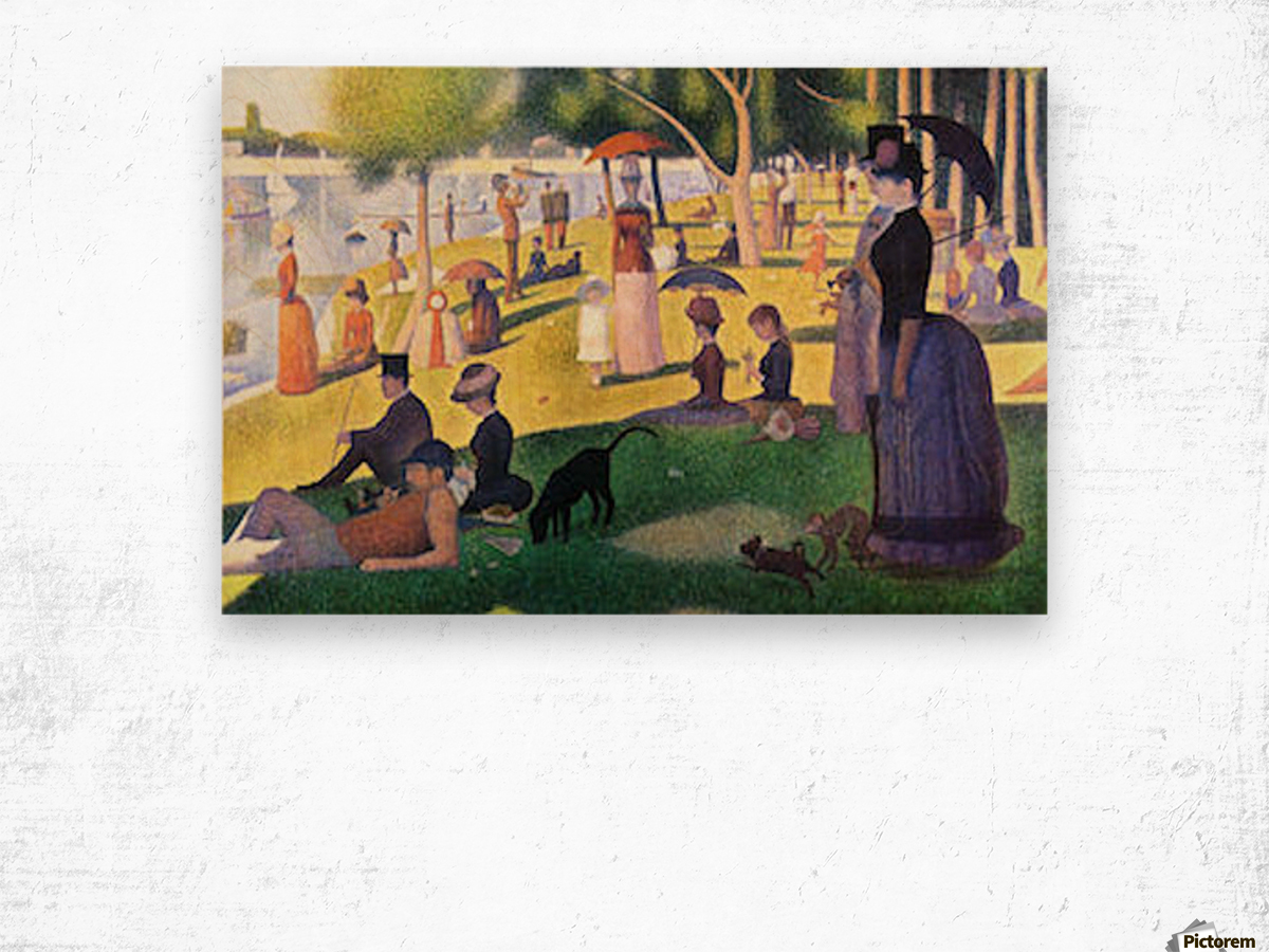Sunday at La Grande Jatte by Seurat Wood print
