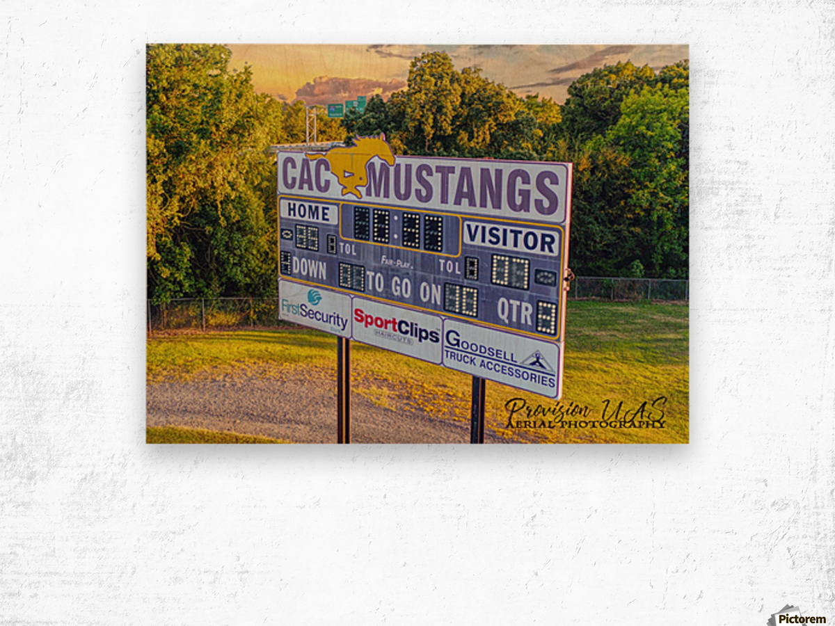 North Little Rock, AR | CAC Scoreboard Wood print