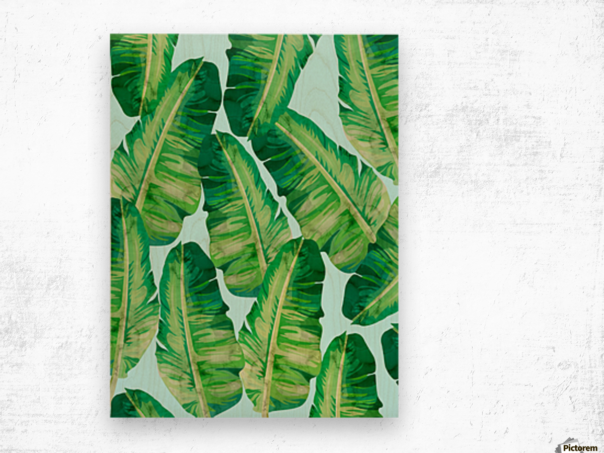 Tropical and exotic pattern II Wood print