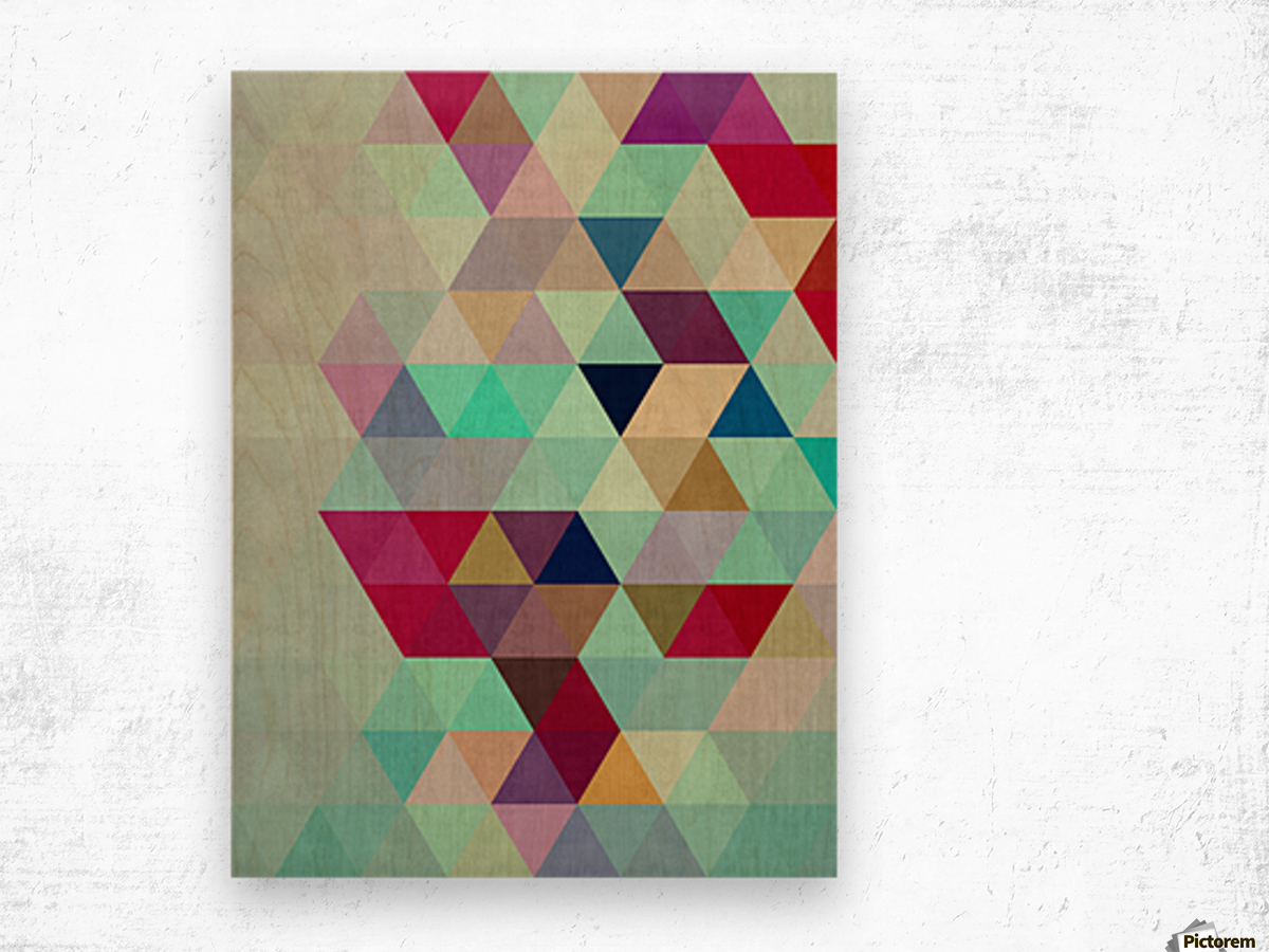Cosmetic triangles IV Wood print