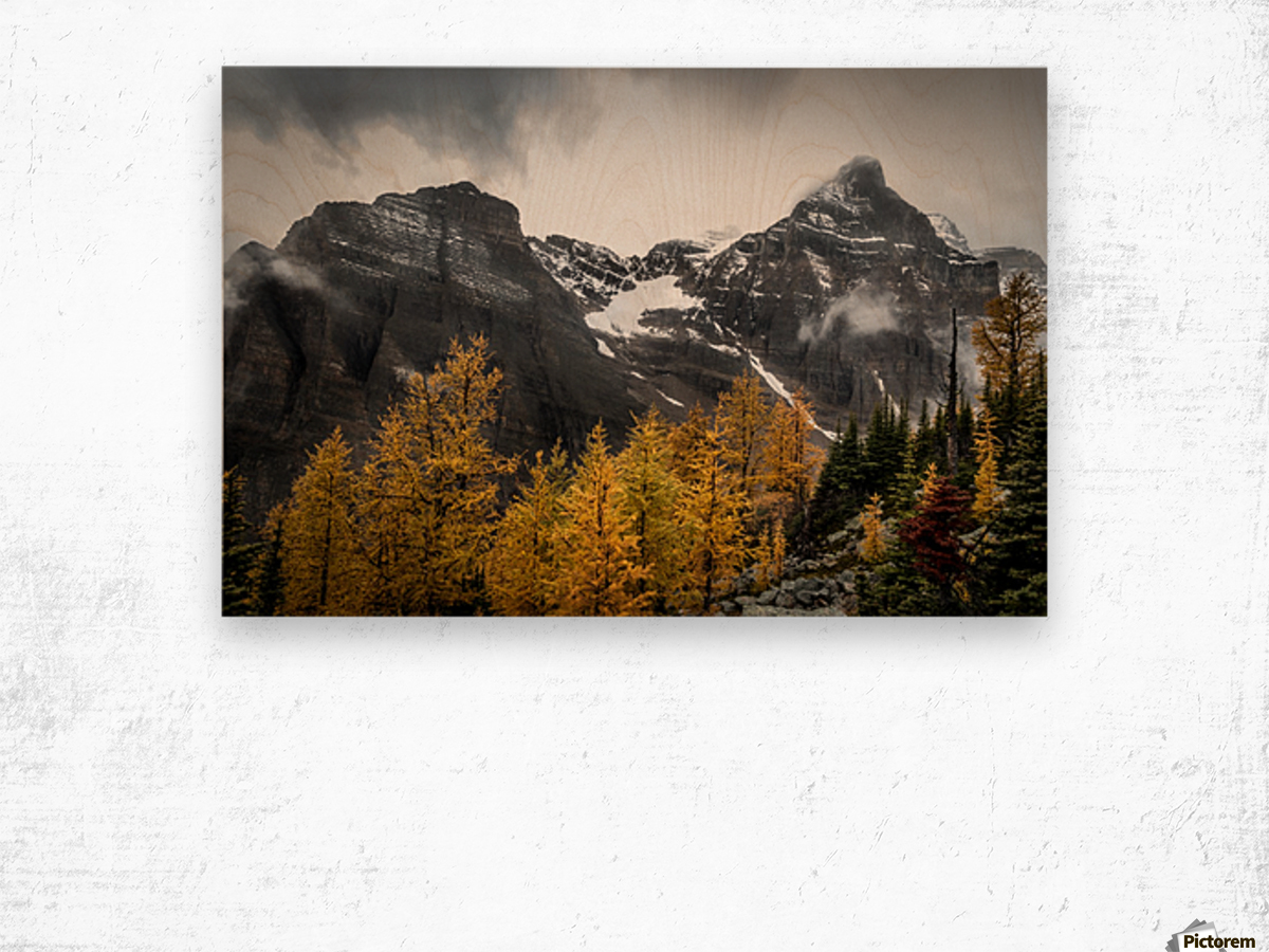 Temple Mountain Wood print