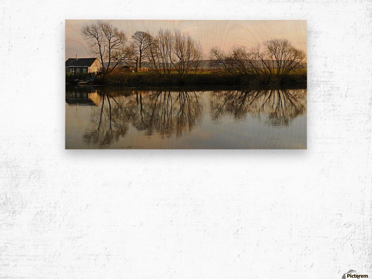 Trent reflection Impression sur bois