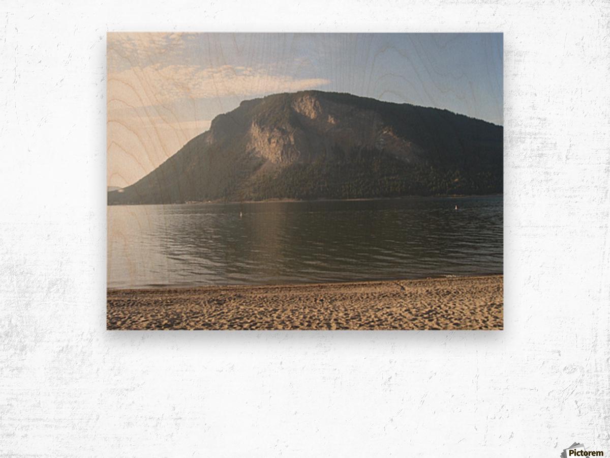Mount Ida On The Beach Wood print