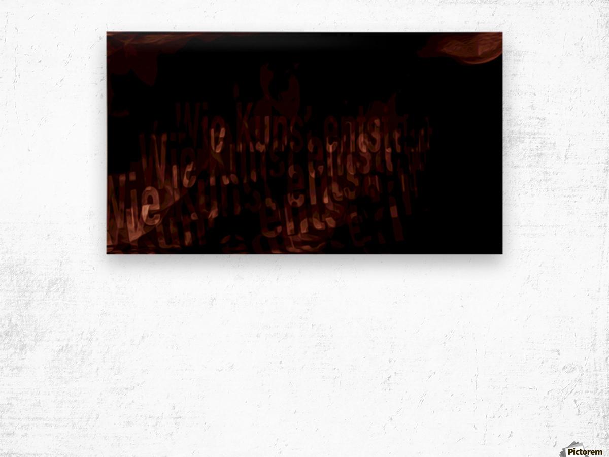 19 Wood print