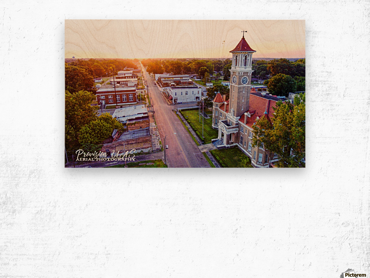 Clarendon AR | Monroe County Courthouse Wood print