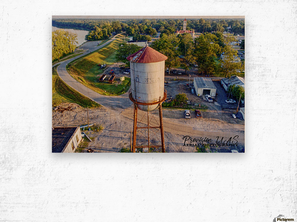 Clarendon, AR | Water Tower Wood print
