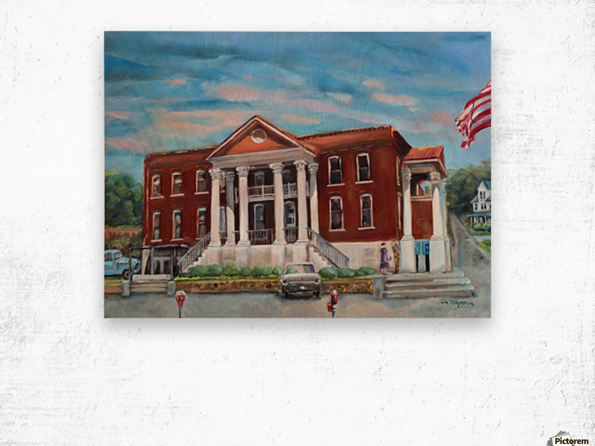 Old Courthouse Vivid Wood print