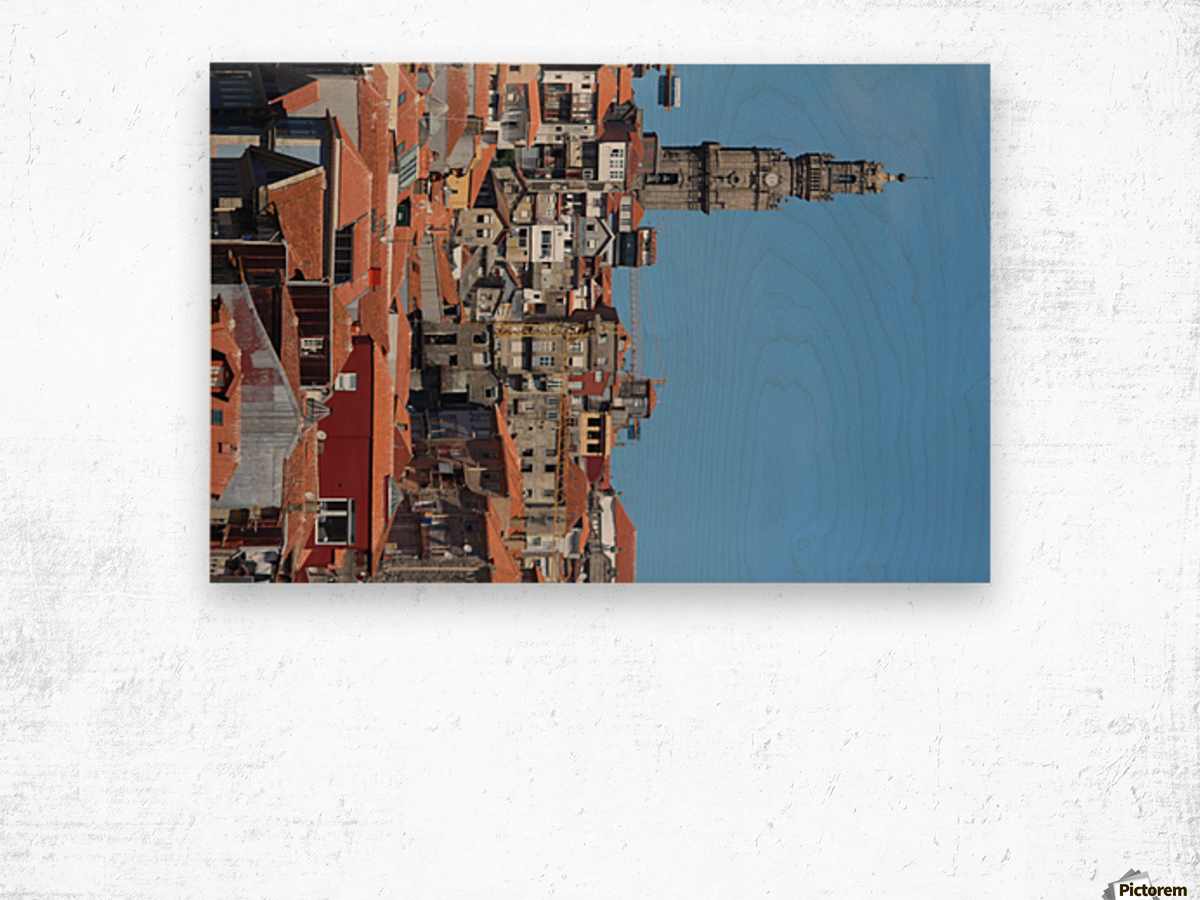 Oporto City the Clerigos Tower Wood print