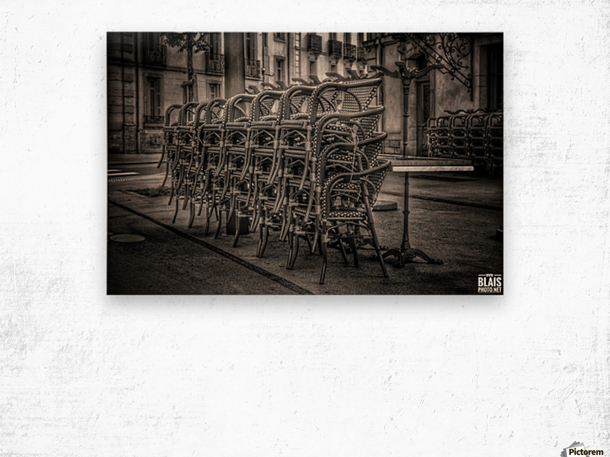 French Bistro Wood print
