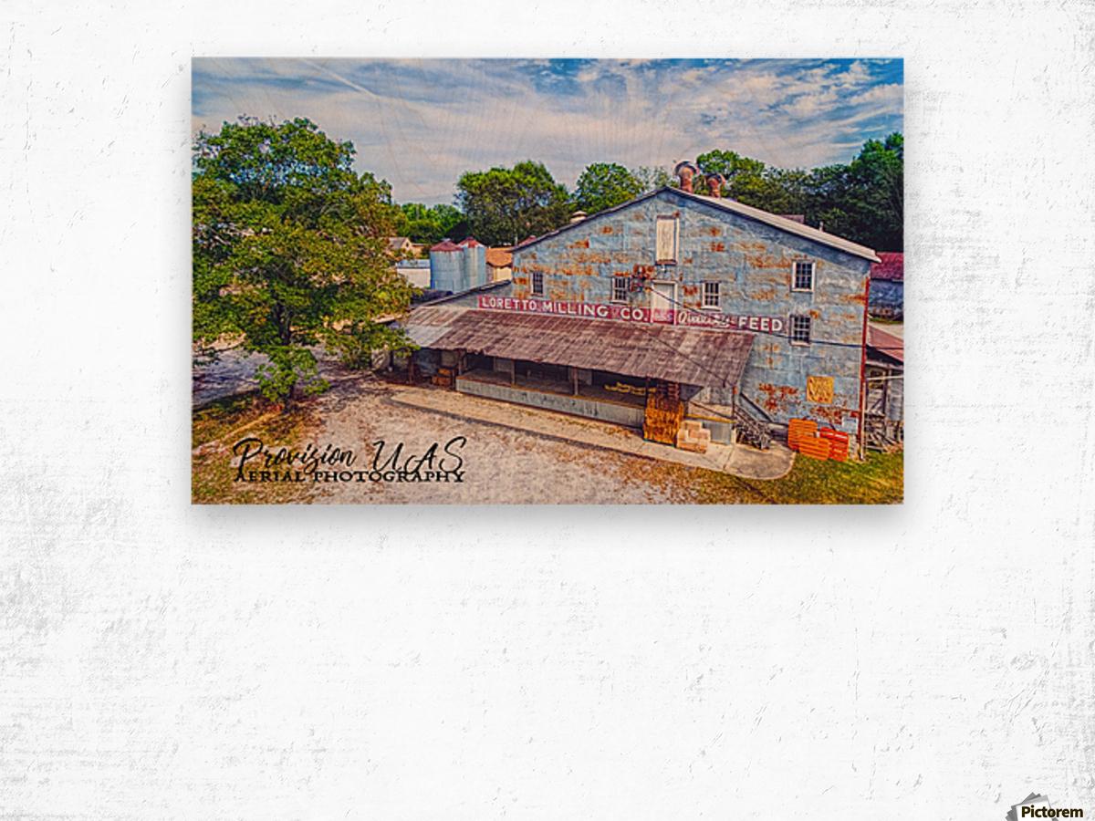 Loretto, TN   Loretto Milling Co. Wood print