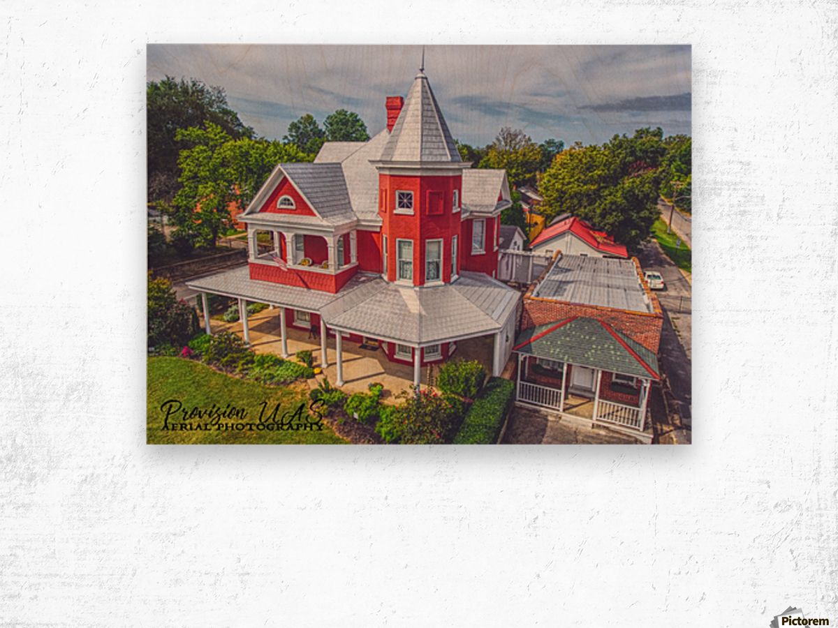Lawrenceburg, TN   The Garrett House Wood print