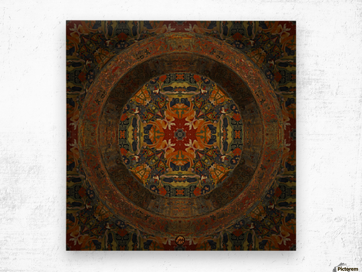 Tibetan Window Wood print
