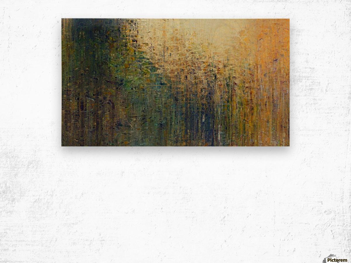 Paris Autumn Wood print