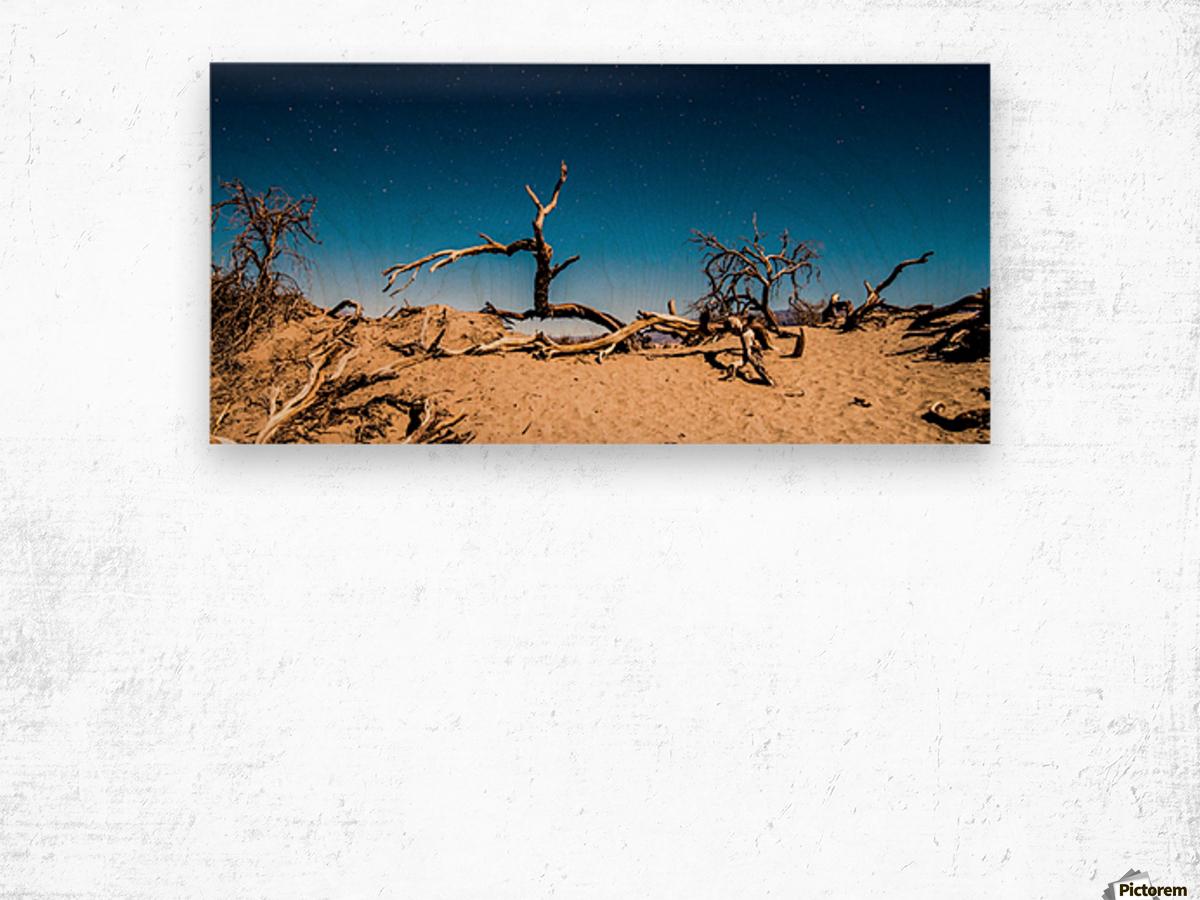 Death Valley Night Wood print