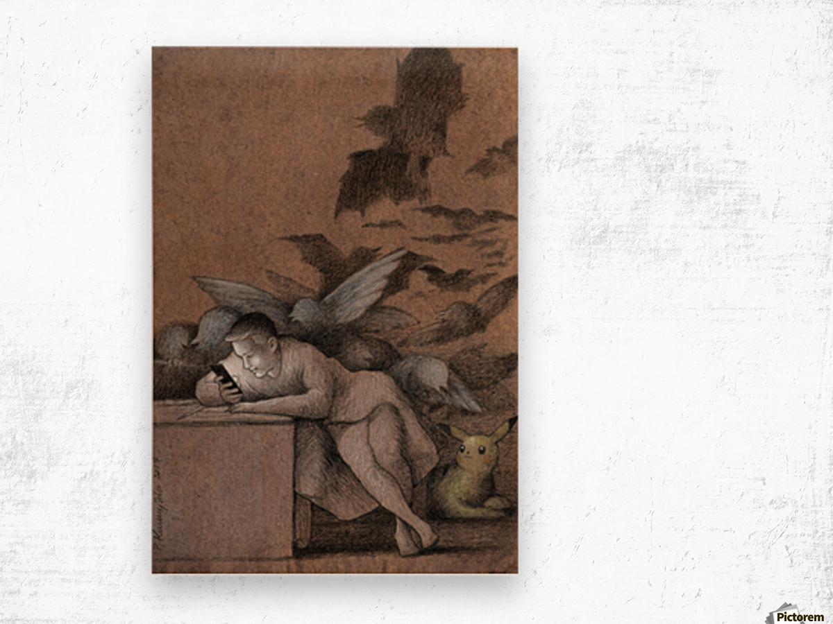 sleep of reason Wood print