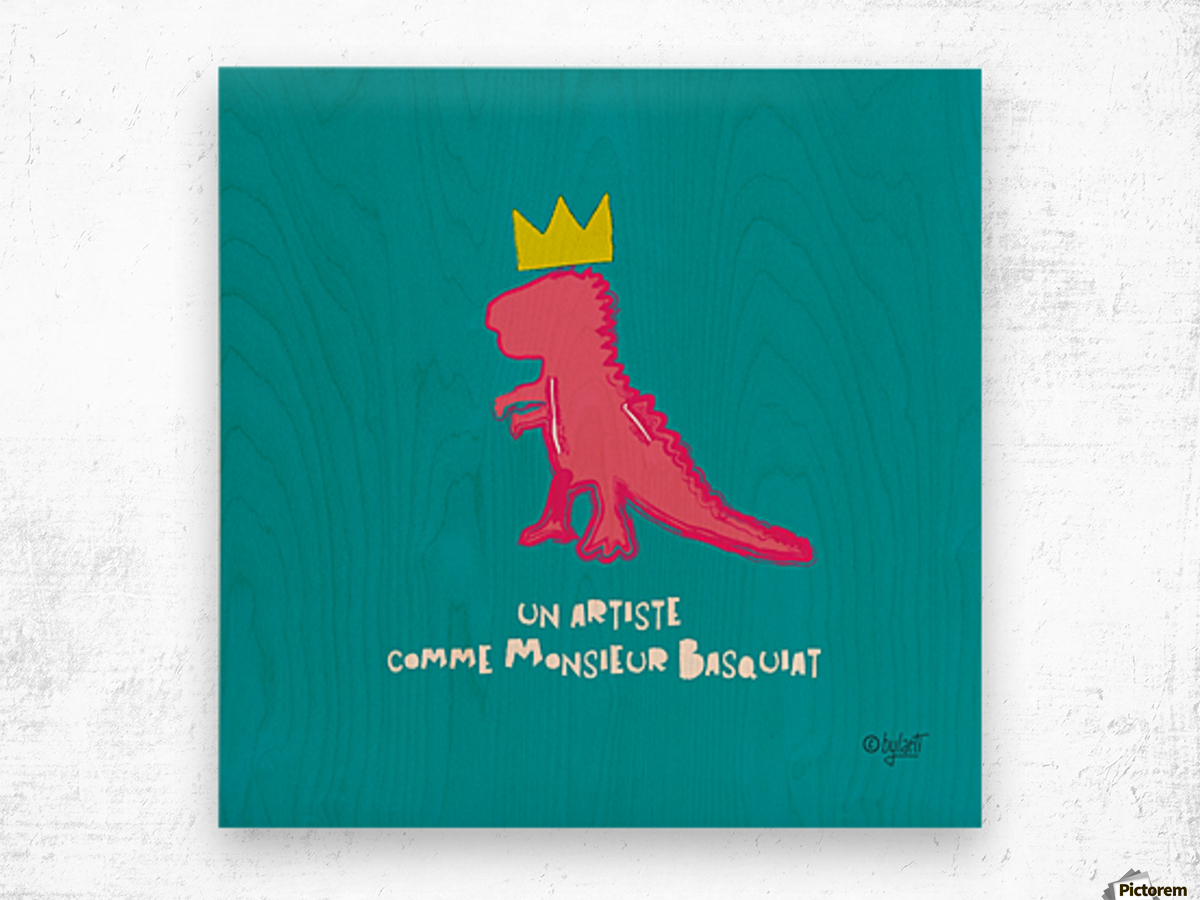 BASQUIAT Wood print
