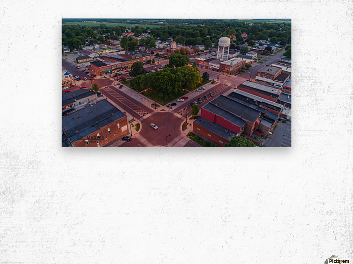 Rushville, IL Square Wood print