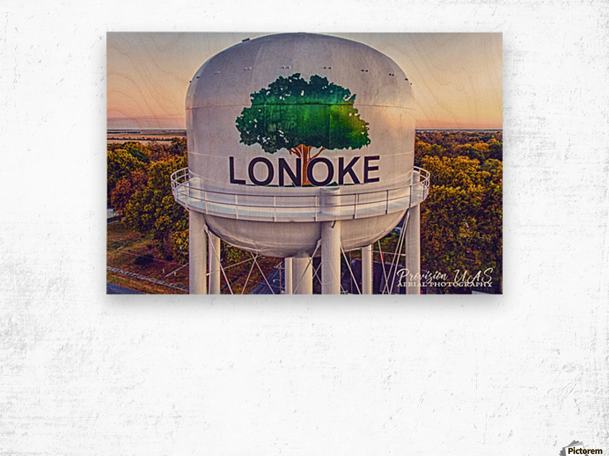 Lonoke, AR | Painted Water Tower 2017 Wood print