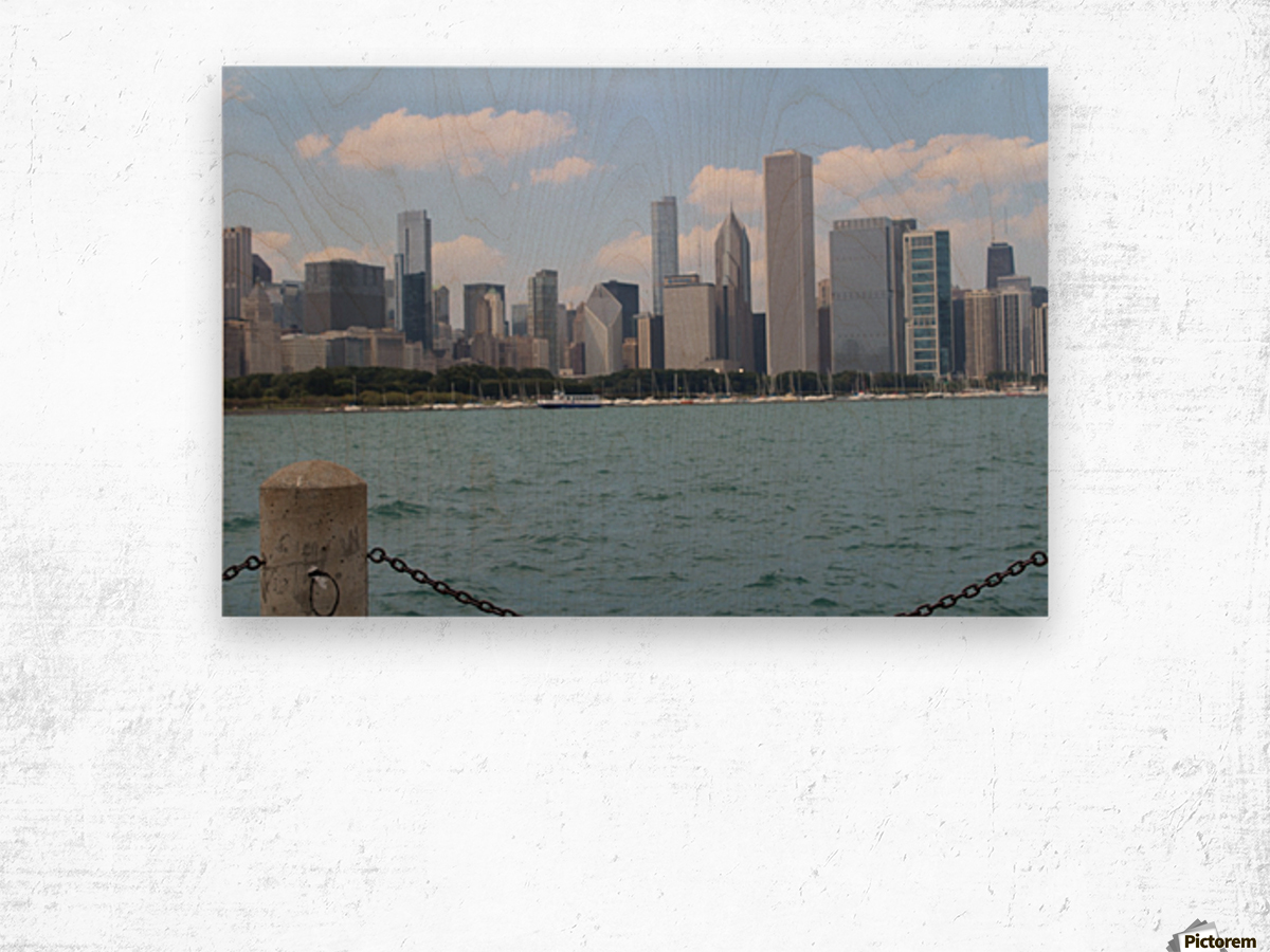 Chicago from the other side Wood print