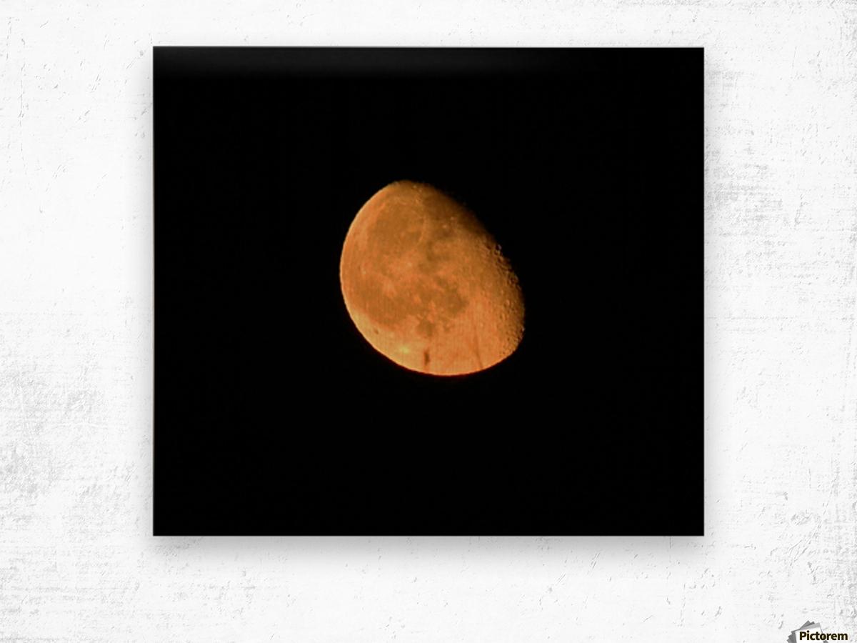 Moon - 4.27 Wood print