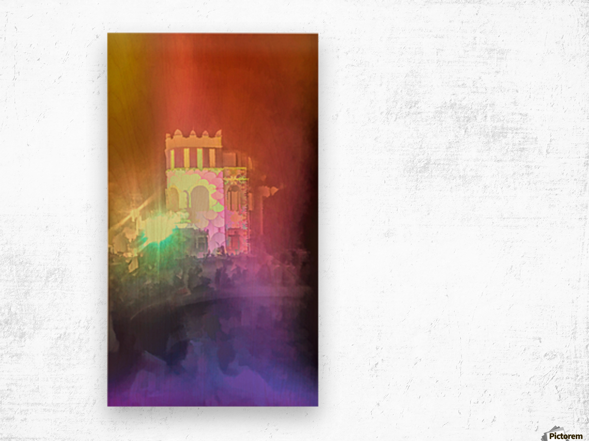 Festival Lights and Fire 2 Wood print