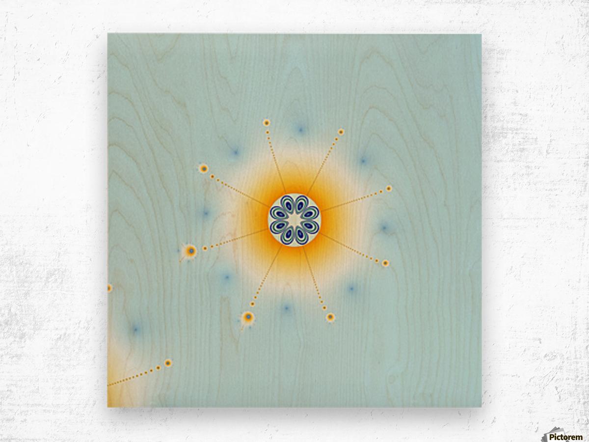 Snow flake fractal Wood print