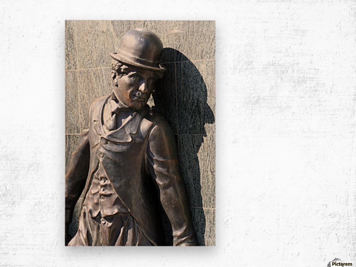 Mr. Charlie Chaplin Wood print