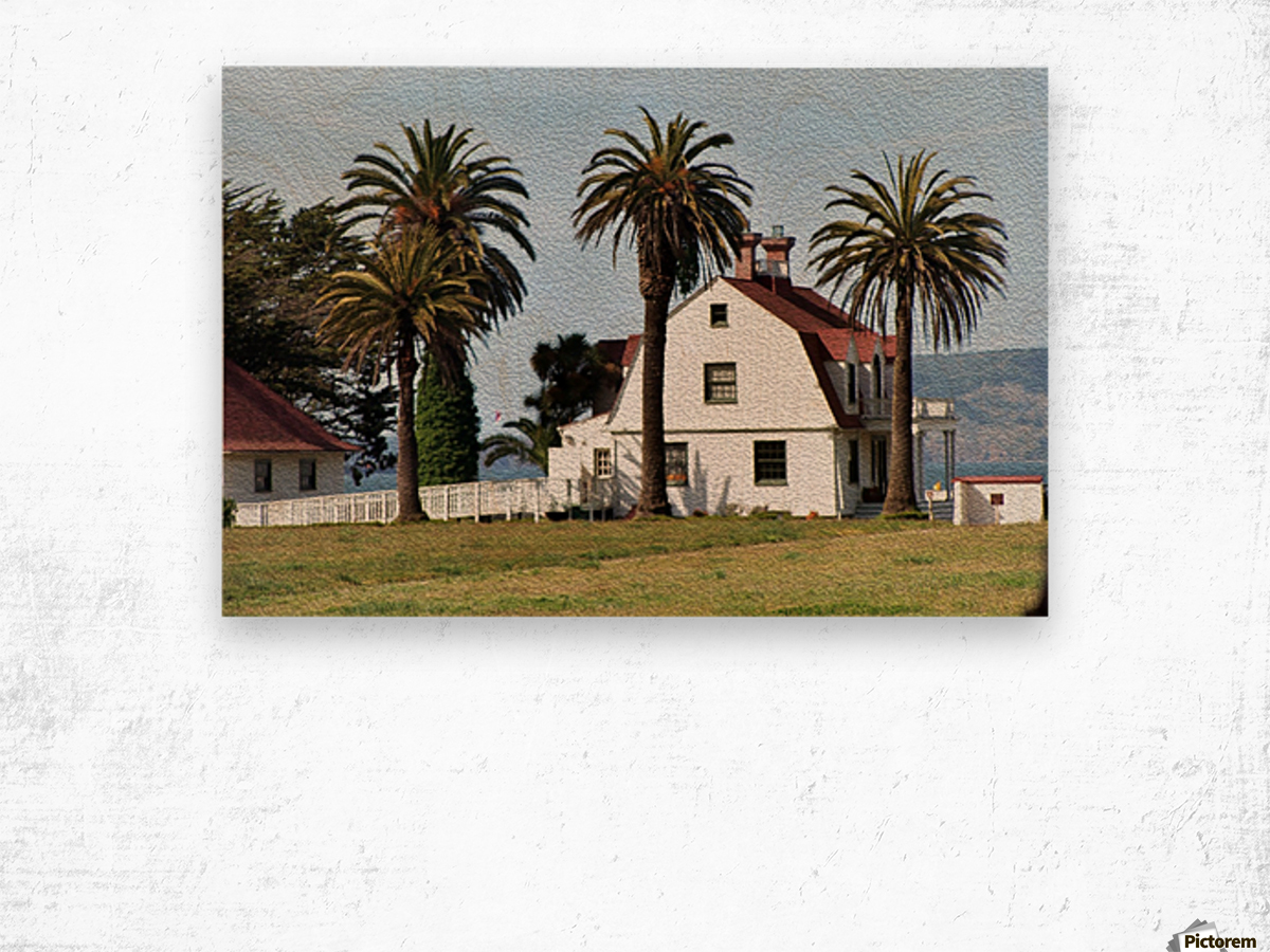House at San Francisco Presidio Park Wood print