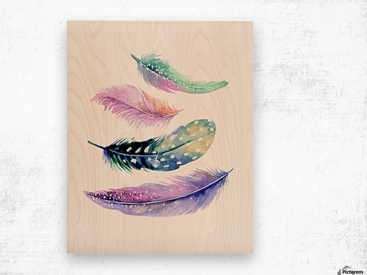 feather Wood print