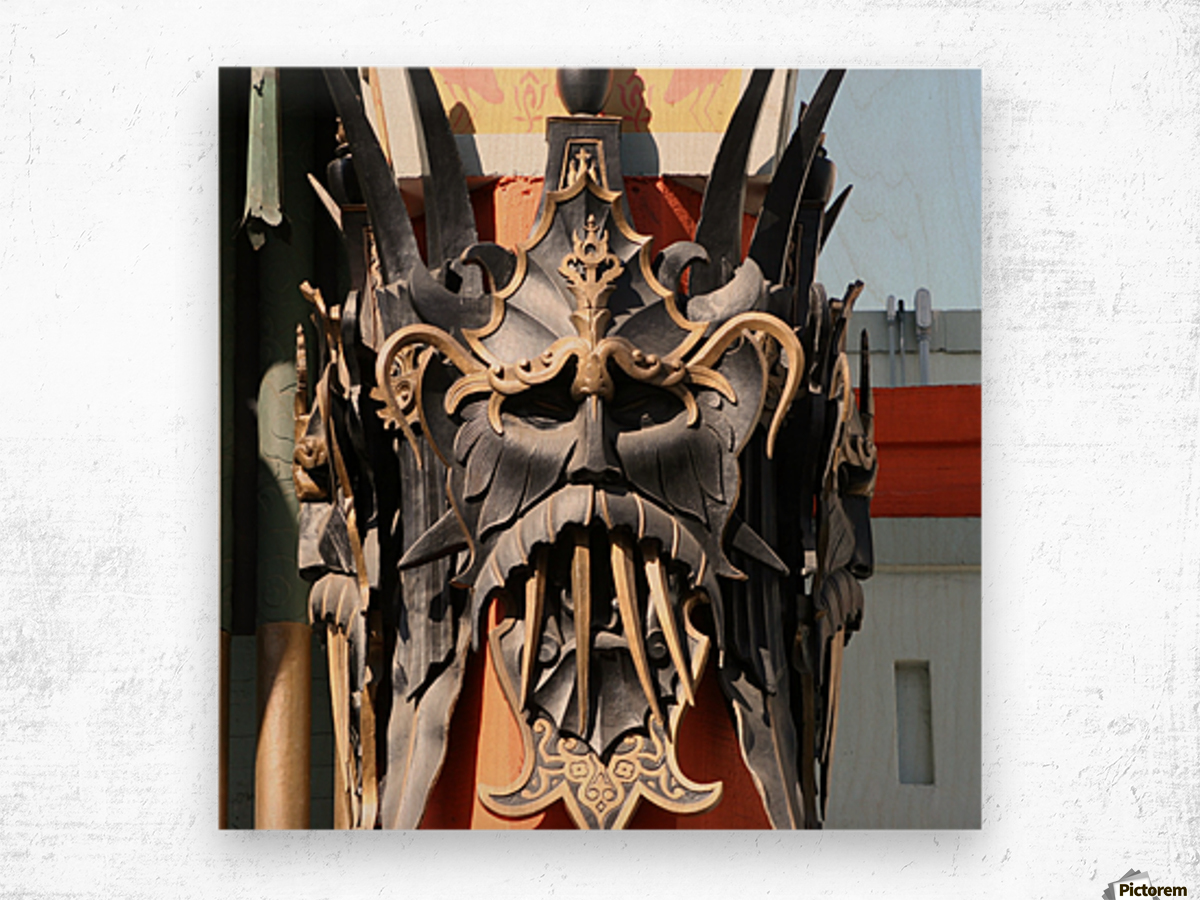 Mask at Grauman's Chinese Theater Wood print