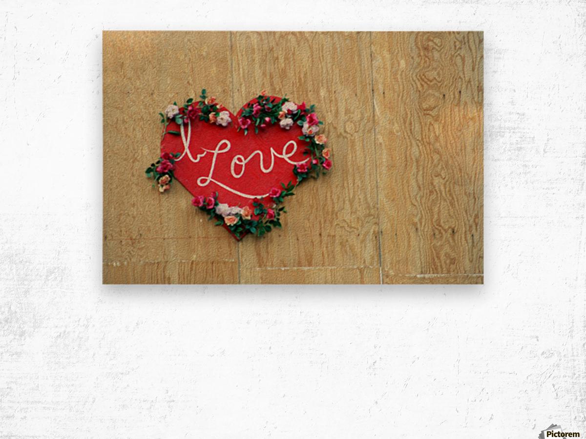 I Love Heart Wood print