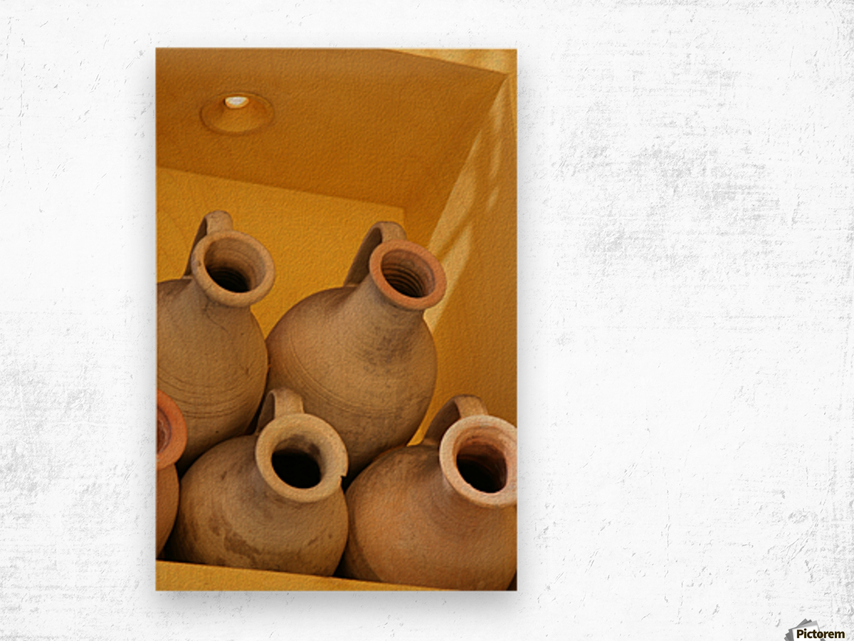 Four Stacked Jugs Wood print