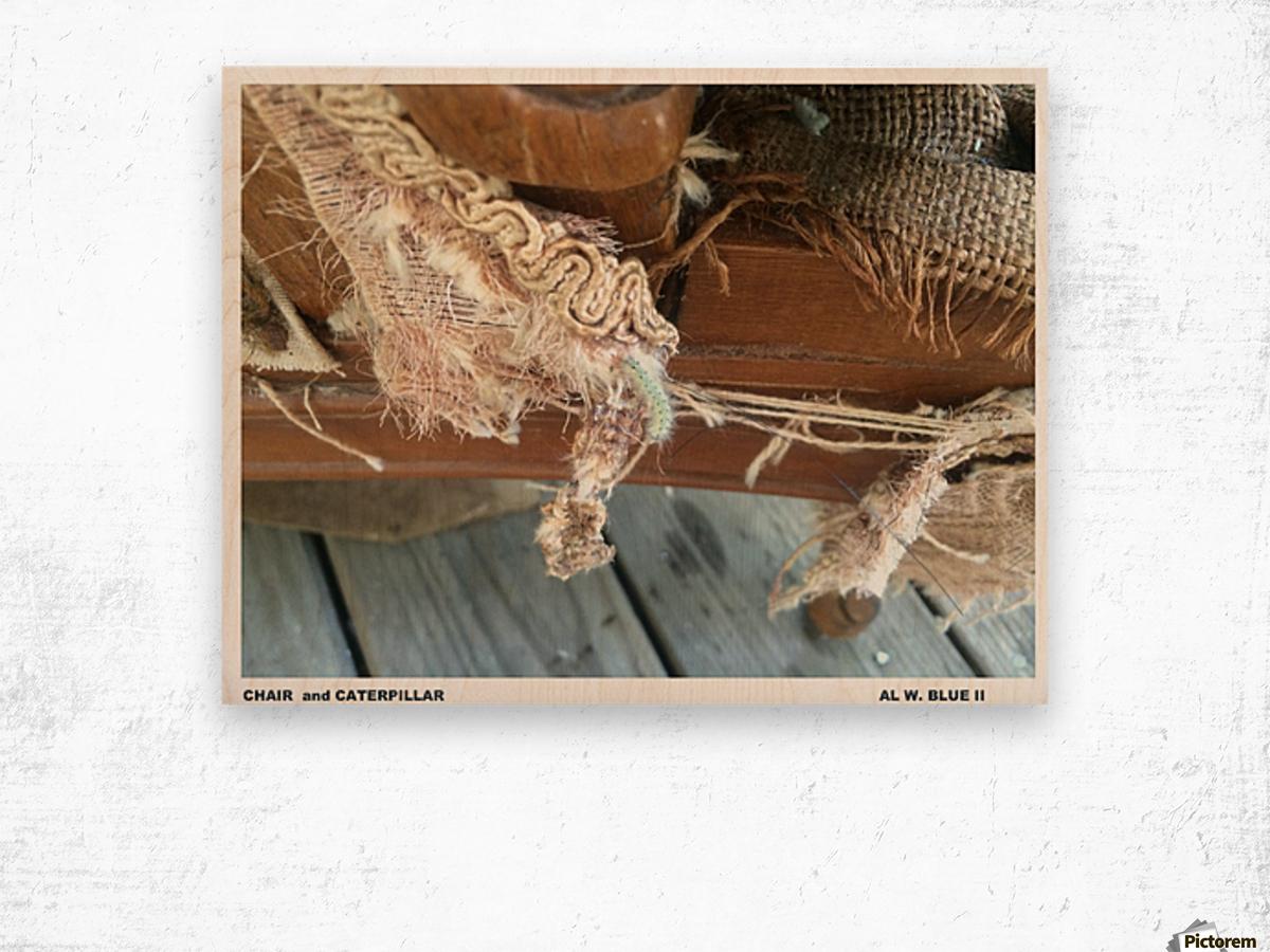 Chair & Caterpiller Wood print