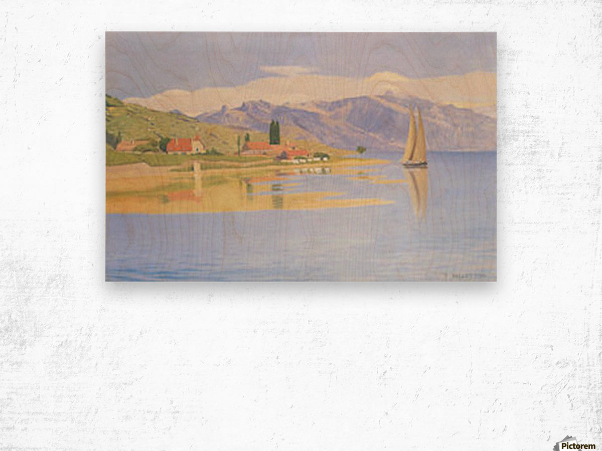 The port of Pully by Felix Vallotton Wood print