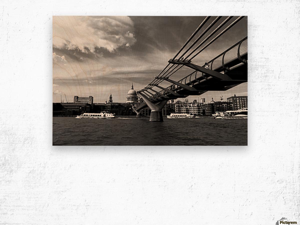 London Skyline -St Pauls Cathedral Wood print