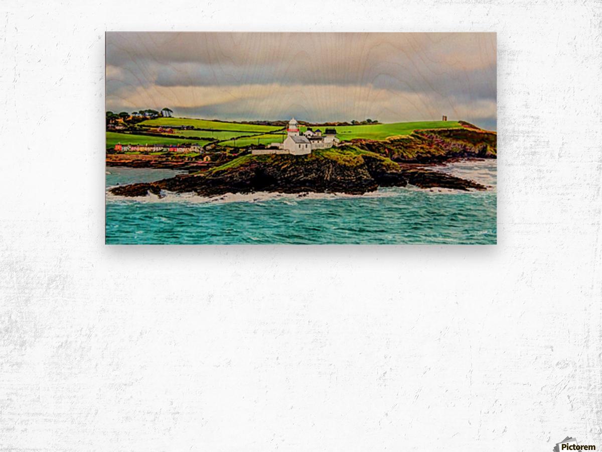 Lighthouse Cobh Ireland Paint effect Wood print
