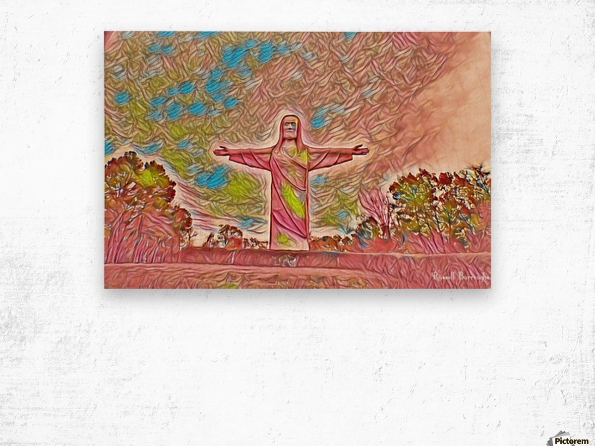 Christ of the ozarks Wood print