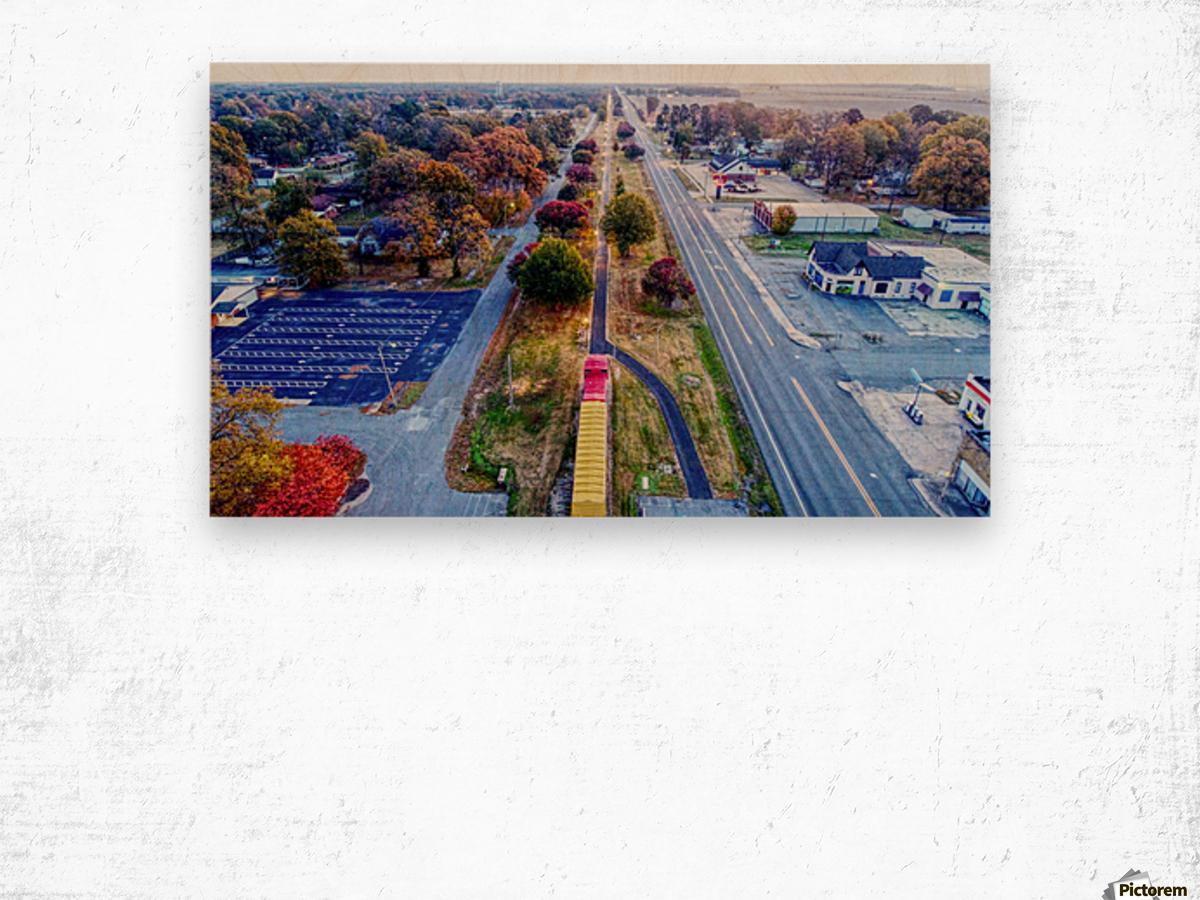 Lonoke, AR | Lonoke Railroad Wood print