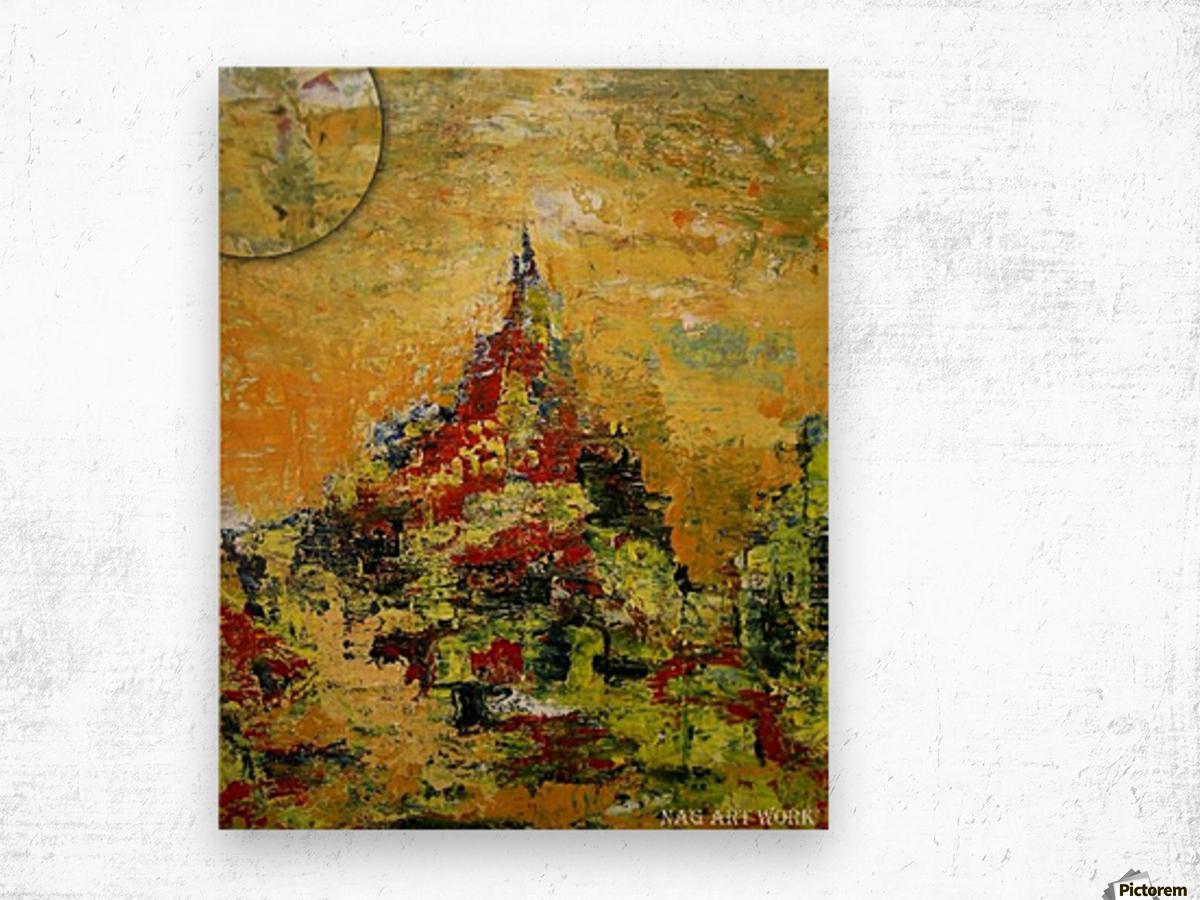 Mount Temple Wood print