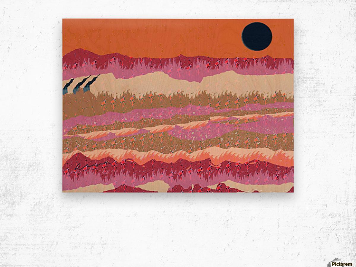 Landscape 748 Wood print
