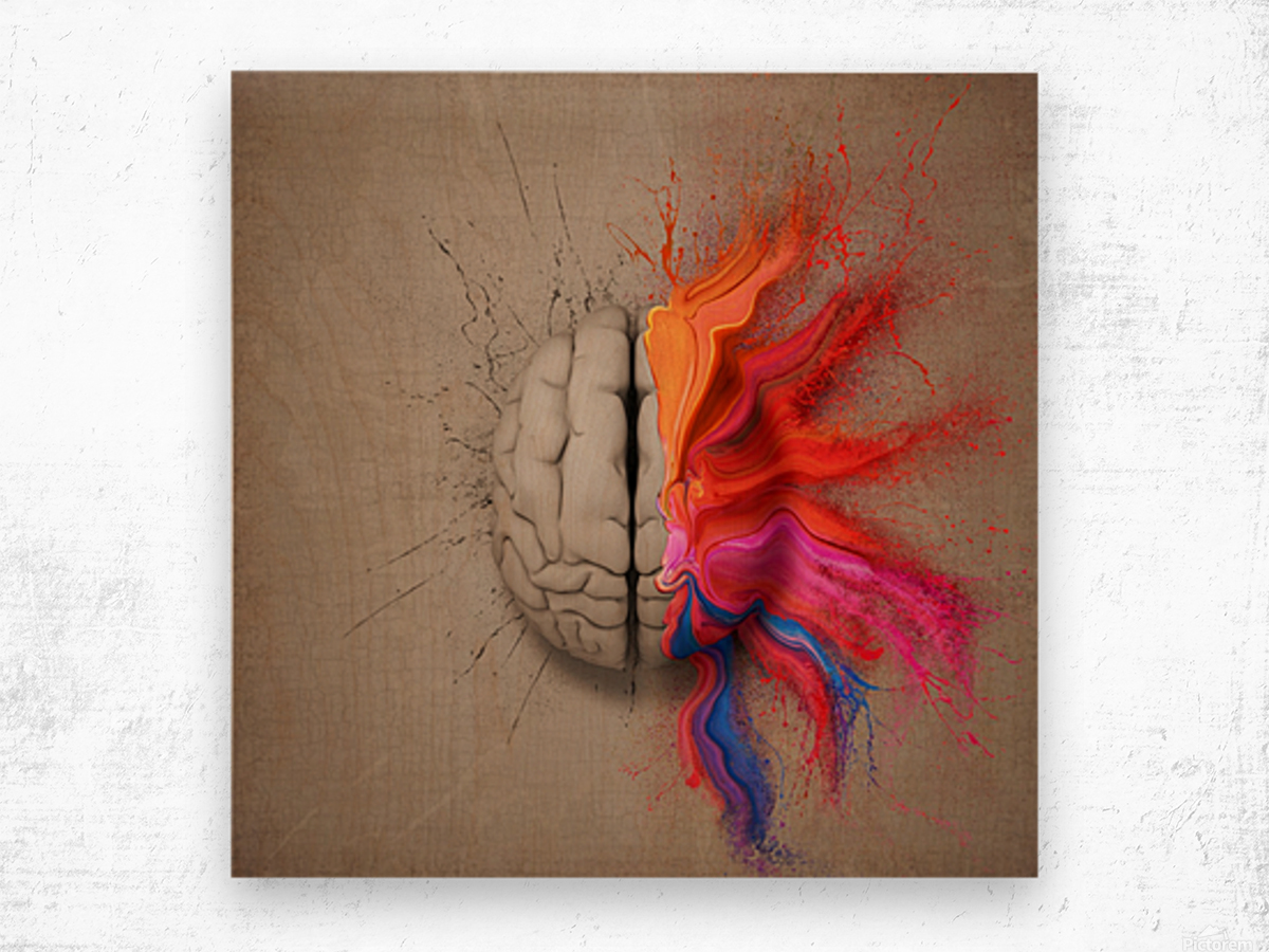 The Creative Brain Wood print
